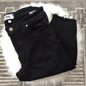 Paige Verdugo Ankle Black destructed skinny jeans